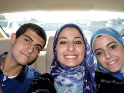 From the left: Deah, Yousor and Razan